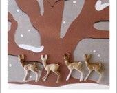 Miniatures Vintage Deer minuscule Teeny