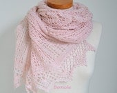Lace crochet shawl, Pink shawl, pink lace shawl, pink crochet shawl,  N336