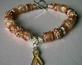 Peach Beaded Bracelet; Womb Cancer; Endometrial Cancer; Uterine Cancer; Awareness; Charity Listing