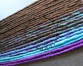 Custom Brown Turquoise and Purple SE or DE Synthetic Dreads - Dreadlock Accent Kit Choose Your Quantity!