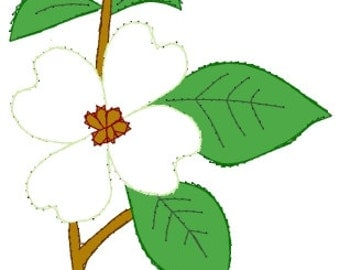 Flowering Dogwood Embroidery Pattern for Greeting Cards