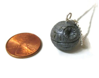 Death Star Inspired Necklace, Star Wars READY TO SHIP