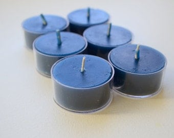 Navy Blue tealight candles for weddings reception centerpieces and parties Pack of 12