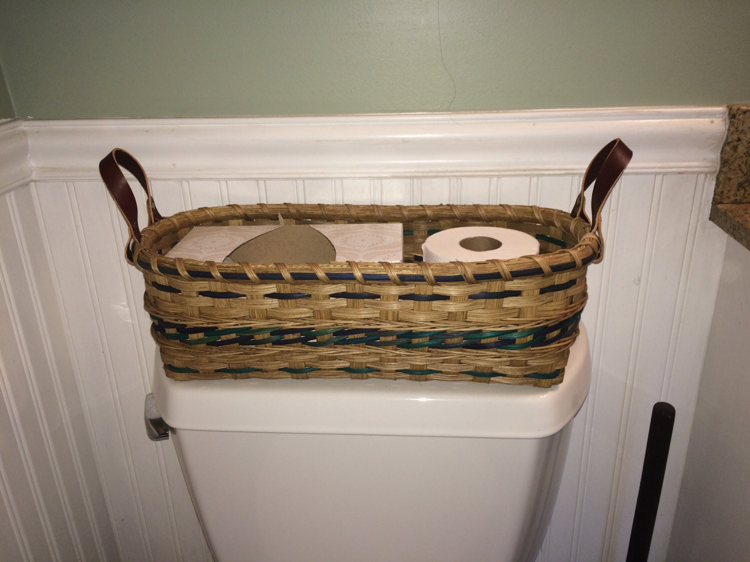 Toilet Tank Handwoven Basket Bathroom Storage Basket