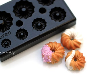 mini donut mold for creating miniature clay sweets / top quality Floree all-in-one mold from Japan / diy clay miniatures