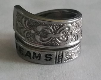Follow your dreams spoon ring