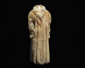 Golden Brown Fox Full Length Fur Coat