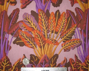 Kaffe Fassett CHARD AUTUMN Lilac Brown Gp128 Quilt Fabric - by the Yard, Half Yard, or Fat Quarter FQ