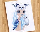 Owl Duchess Die Cut Vinyl Sticker Decal