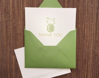 Wedding Thank You Card / flat or folded notecard with envelope