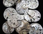 Destash Steampunk Watch Parts Movements Cogs Gears  Assemblage FW 10