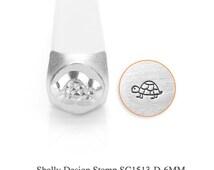 Shelly Design Stamp, Turtle Stamps, SC1513-D-6MM, Animal Metal Stamps, Carbon Steel Stamp, ImpressArt Stamp, Animals and Nature Stamps