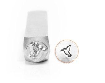 Hummingbird Design Stamp, Metal Stamp, 6mm, Carbon Steel Design Stamp, ImpressArt Design Stamp, SC156-AJ-6MM