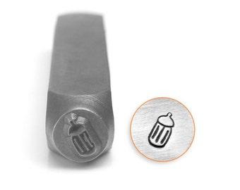 Baby Bottle Design Stamp, Metal Stamp, 6mm, Carbon Steel Design Stamp, ImpressArt Design Stamp, SC155-F-6MM
