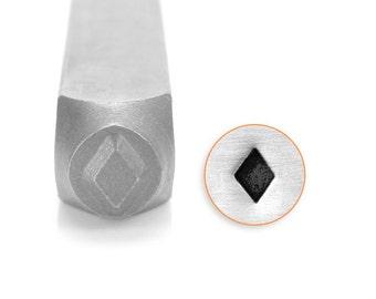 Diamonds Symbol Design Stamp, SC1510-F-6MM, Symbols and Shapes Design Stamp, Metal Stamp, 6mm, Carbon Steel Design Stamp, ImpressArt