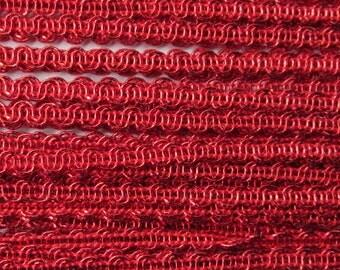 Wholesale Lot 10-1/4 Yards Czech Republic Narrow Red Metallic Trim 5mm MM16