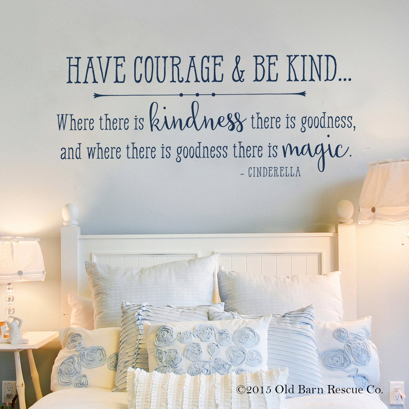 Fairy Stickers For Walls Have Courage And Be Kind Cinderella Wall By