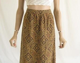 Vintage 60s Indian Woven Boho Maxi Skirt.