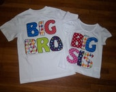 Bright Primary Colors, Unisex Big/Lil Bro Big/Lil Sis Great for pictures, coming home or baby announcements, gender reveral photography