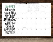 A Hand-Lettered Year | 2016 Wall Calendar
