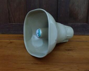 Vintage Tan Metal Public Address System Rauland Loud Speaker