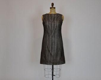 60s dress / Chocolate Delight Vintage 1960's Brown Mod Cocktail Dress