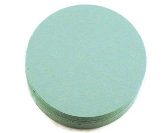 Die Cut Paper Circles  2 inch Circles in  Mint Green  Quantity 50