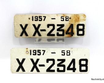 1950s Matching License Plates Historic Auto Restoration