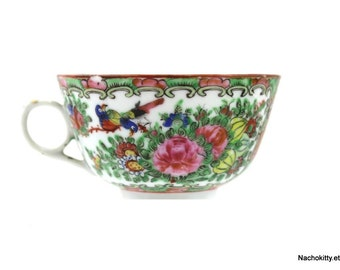 1900s Rose Medallion China Teacup