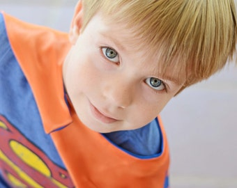 SUPERHERO CAPE Boy Reversible Blank Super Hero Gift Ships FAST