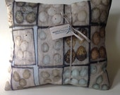 """The Egg Drawer Pillow, 20"""" x 20"""" down filled cushion hand made in St. Louis"""