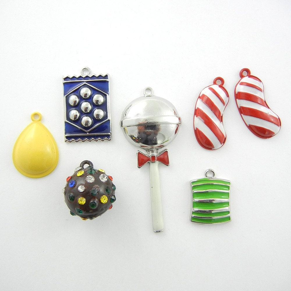 set of 7 charms