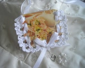 As seen at Martha Stewart Wedding Party 2015 Large White Memory Photo Holder Memento For Bridal Bouquet Hand Made by Handcraftusa