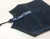 LG Deployment Journal US Coast Gaurd - Ready to Ship - Blue leather and handmade paper