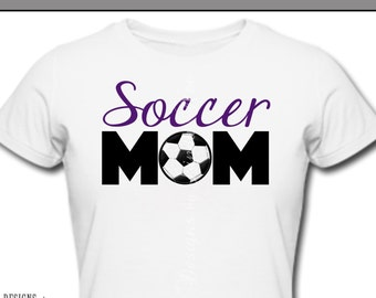 Iron On ~ Soccer MOM ~ Printable Digital Download for Iron on Transfer for T-Shirt, tote, fabric ~ Soccer, Football, Soccer Mom, Soccer Dad