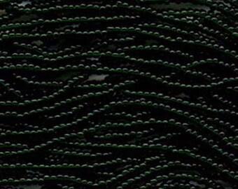 Czech Seed Beads 6/0 Transparent Dark Green 31665 , Green Glass Seed Beads, Size 6/0 Seed Beads, Jablonex Seed Bead, 4mm Seed Beads
