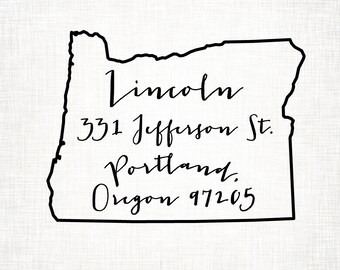 Oregon Personalized Return Address State Stamp