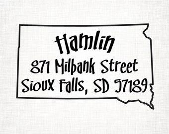 South Dakota Personalized Return Address State Stamp