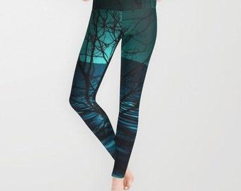 Tree yoga pants | Etsy