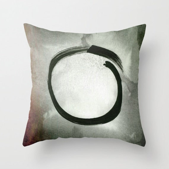 Zen Throw Pillows : Enso Throw Pillow Zen Pillow Buddhism Decor Japanese Art