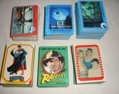 Vintage Superman, E.T. , Close Encounters of the 3rd Kind, and Raiders of the Lost Ark Trading Cards Stickers 515 Cards