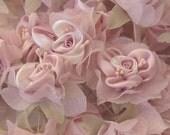 18 pc Chic PINK White Satin Organza Ribbon Wired Rose Peony Flower Reborn Doll Wedding Bridal Wedding Bow Hair Accessory Applique