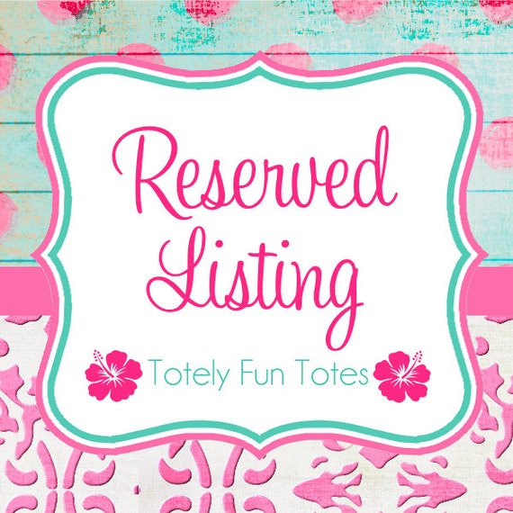 Reserved Listing for Michelle E.