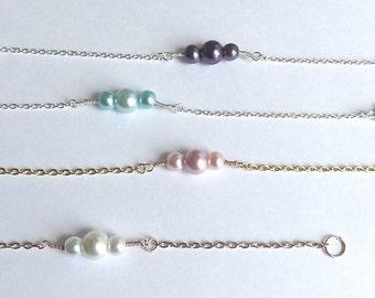 Pearl Bracelets, Bridal Gift, Bridal Jewelry, faux pearl bracelet, spring colors