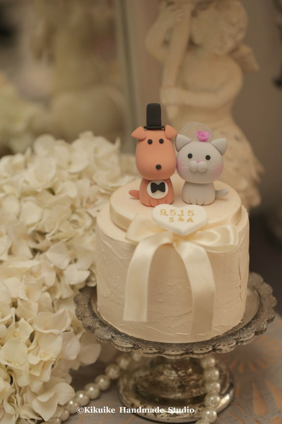 wedding cake topper cat and dog cat and wedding cake topper k847 26306