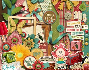 Playful Sunshine Digital Scrapbook Kit