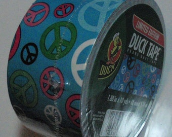 Duck Tape Roll Peace Out Very Rare and Discontinued Best Price on the Net