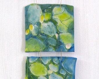 "Canemah Studios Polymer Clay Wall Hanging ""Tide Line, Rocks and Seashells"""