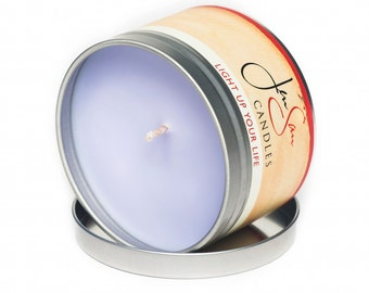 Lavender Soy Candle in Travel Tin, Handmade, 8 oz