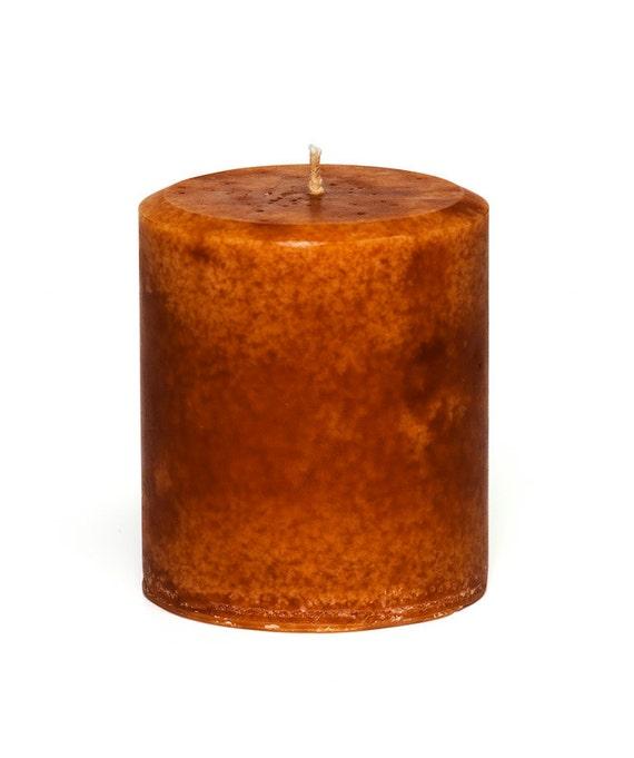 JenSan Cinnamon Orange Scented Pillar Candle -  Decorative, 14 ounces - 397 grams